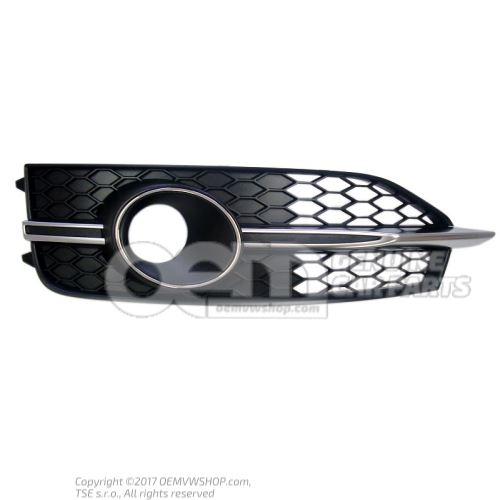 Rejilla negro satinado der. Audi A7 Sportback 4G 4G8807682E 9B9