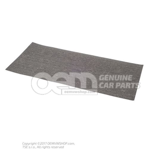 Sound absorber (adhesive) luggage compartment floor sectional part - wheel housing doors