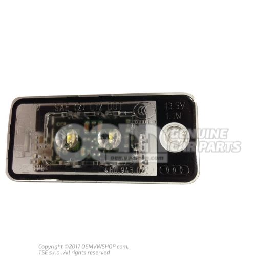 LED licence plate light 4H0943022