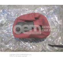 Gearstick knob with boot for gearstick lever (leather) red 1J0711113AELMJ