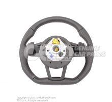 正版奥迪SLINE的方向盘与安全气囊平底