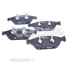 1 комплект тормозных колодок для дисковых тормозов 4G0698151S