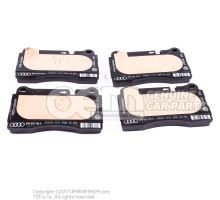 1 set of brake pads for disk brake 8J0698151K