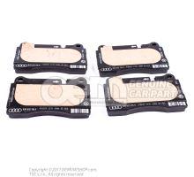 1 комплект тормозных колодок для дисковых тормозов 8J0698151K