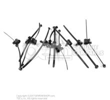 Cable tie with holder (Clamp base, rotating) roof base support connection piece particle sensor toothed quadrant roof wiring harness lhd rhd front outer 4-cylinder 7-speed dual clutch gearbox diesel engine 3D0971838A