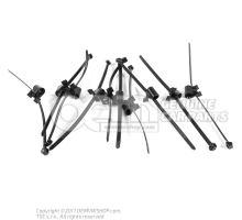 Serre-cable avec attache (socle de fixation orientable) support de fond de toit pièce de raccord segment dente cablage p. pavillon capteur de particules conduite à gauche conduite à droite av ext. 4 cylindres Boîte de vitesses à double embrayage à 7 vites