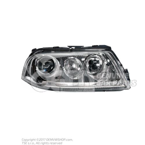 Halogen twin headlights for gas discharge bulb 3B7941018M
