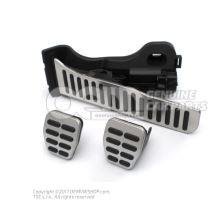 1 jeu caches-pedales acier inoxydable 1K1064200A