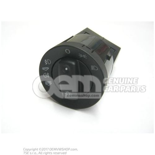 Multiple switch for side lights, headlights, front and rear fog lights soul (black) 8E0941531C 5PR