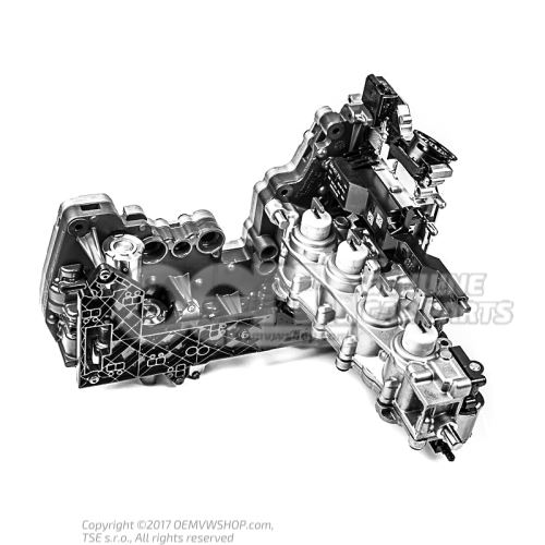 Mecatrónica original de Audi con software para 7 velocidades DL501 / 0B5 Caja de cambios 8R2927156F