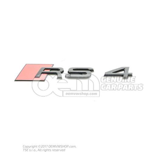 Monogramme noir-brillant Audi RS4/Avant quattro 8W 8W9853740 T94