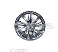 铝合金轮辋 煤黑色金属漆(灰色) Skoda Superb 3V 3V0071499J HA7