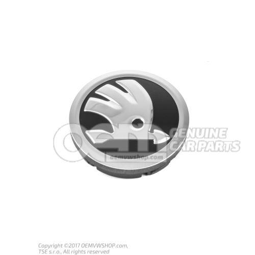 Hub cap polished chrome/jet black 5JA601151 ULM