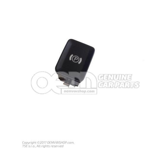 Bouton pour frein de stationnement electromecanique noir/blanc 3C0927225C REH