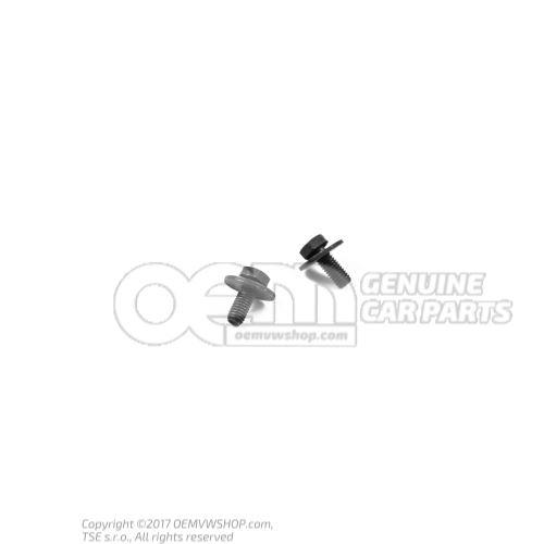 N  0901484 Vis 6 pans (avec rondelle) M6X15