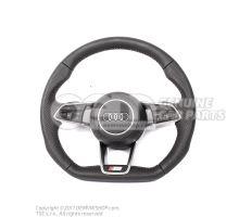 Подлинное рулевое колесо Audi Sline с плоским дном с подушкой безопасности