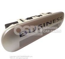 Entry lighting with lettering light silver metallic 7E5947415D 72A