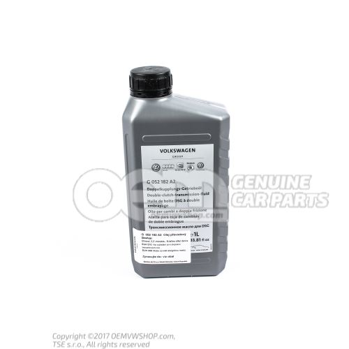 Dual clutch transmission fluid service fluid service fluid -gear oil- yellow G  052182A2