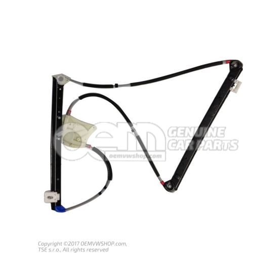 Window regulator without motor 8L4837461