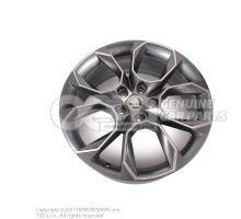 铝合金轮辋 煤黑色金属漆(灰色) 抛光铝 5E0071499  HA7
