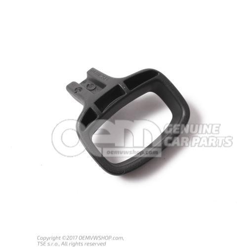 Handle: seat longit. adjustm. satin black right 3C0881254A 9B9