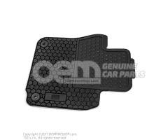 1 set foot mats (rubber) black