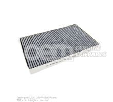 Filter insert with odour and harmful substance filtering 4B0819439A