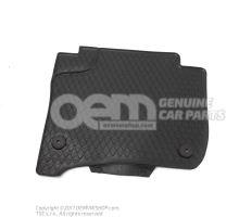 1 jeu tapis sol (caoutchouc) bouton-ression noir conduite à gauche av et ar gauche et droite 7P1061500  041