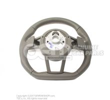 Multifunct. sports strng wheel (leather perforated) multifunct. sports strng wheel (leather) soul (black)/cliff grey Audi TT/TTS Coupe/Roadster 8S 8S0419091ABJAH