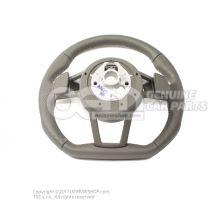 Volant sport multifonctions (cuir ajoure) volant sport multifonctions (cuir) soul (noir)/gris roche Audi TT/TTS Coupe/Roadster 8S 8S0419091ABJAH