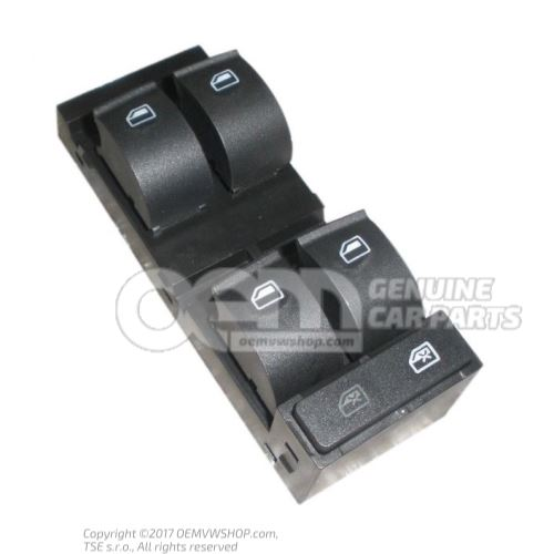 Switch for electric window regulator soul (black) 4B0959851B 4PK