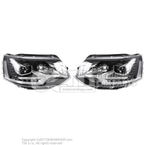 Originálna sada svetlometov Volkswagen Bixenon LED Multivan - LHD
