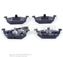 1 set of brake pads for disk brake 1 set: brake pads with wear indicator for disc brake fr 1J0698151G
