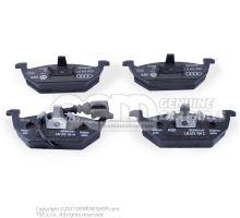 1 set: brake pads with wear indicator for disc brake front 1J0698151G