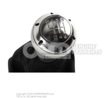 Gearstick knob (alu) with gearstick trim (leather) soul (black) 8E0863278DQSKH
