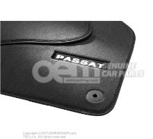 1 juego alfombrillas (textil) negro Volkswagen Passat 3C 4 motion 3AB061270 WGK