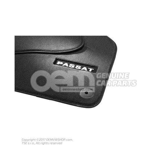 1套脚垫(织物) 黑色 Volkswagen Passat 3C 4 motion 3AB061270 WGK