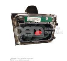 Gear shift cover black/aluminium lhd 3AB713203E TVJ