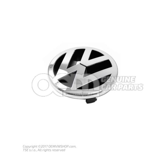 Znak VW svetlý chróm / antracit