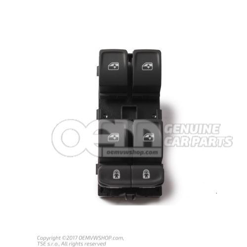 Conmutador p. levantavidrios electrico negro satinado/blanco 3G0959857B WHS
