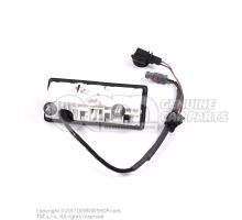 Push button for electric lid lock actuator 5N0827566A