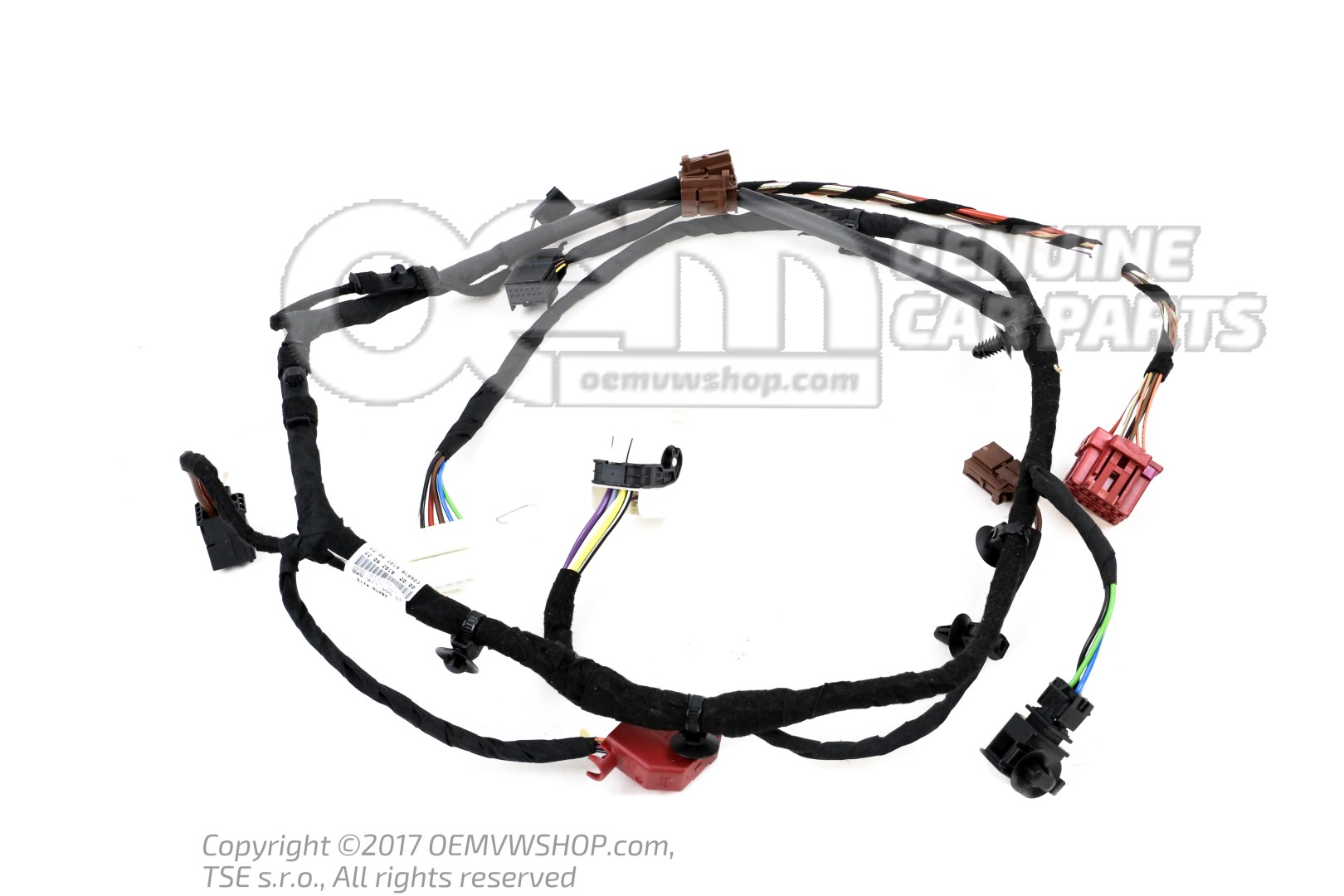 Seat frame wiring harness
