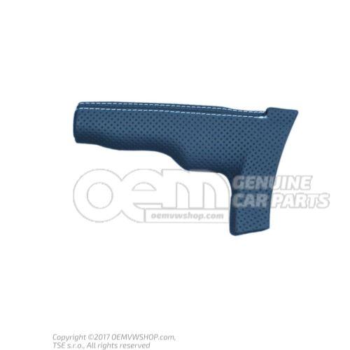 Kľučka pre páku ručnej brzdy soul (čierna) / strieborná Audi TTRS Coupe / Roadster 8J