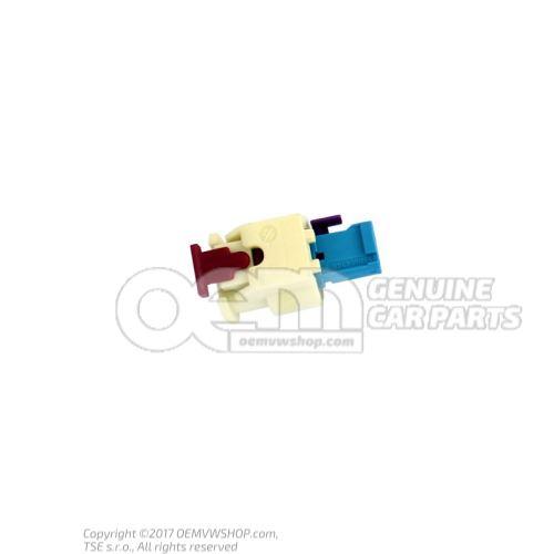 Boitier contact plat avec verrouillage par contact 4H0973323