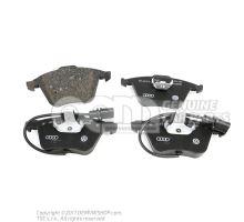 1 комплект тормозных колодок с индик. износа для дисковых тормозов Audi A8/S8 Quattro 4E 4E0698151M
