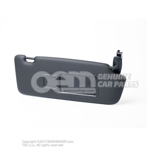 Sun visor with mirror and cover soul (black) 8U0857552H 7C0