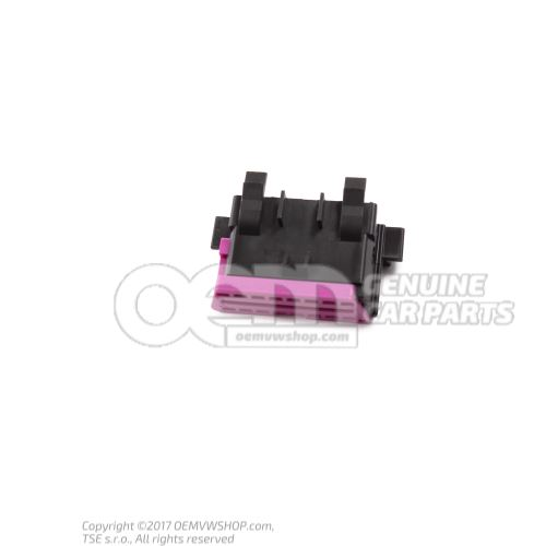 Flat contact housing with contact locking mechanism connection piece for diagnosis plug