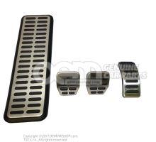 1 juego de casquetes de pedal Audi A1/S1 8X 8X1064205