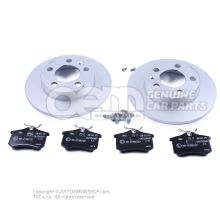 1 set brake discs with \\\eco\\\ brake pads JZW698601AH