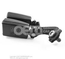 Cierre de cinturon doble negro satinado/rojo fuego 1Z0857488B FCN
